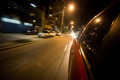 (. . .) Tags: chile street cars yellow night del speed lights luces noche mar calle movement blurry long exposure via vehicles amarillo velocidad vehiculos borroso 2015