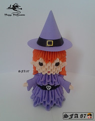 Witch Origami 3D (Samuel Sfa87) Tags: halloween hat paper happy origami witch magic sfa block witches maga hag stregoneria magician sorceress papercraft befana strega magia bruxa streghe b hocus bruxas pocus sorcire  bruha arodjnice thy   ph blockfolding origami3d vrjitoare  sfaorigami sfa87 fattuchiera pythonissam