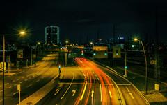 Traffic (tekmon) Tags: street longexposure light night nightshot nacht strasse nachtaufnahme langzeitaufnahme nothdr