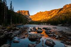 Lac des Rêves (Patrick.Russell) Tags: park longexposure mountain lake mountains reflection fall water sunrise landscape outdoors nikon colorado outdoor dream tokina national co rockymountain rmnp wilderness tranquil d300 dreamlake cloudsstormssunsetssunrises