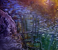 Evening Shimmer (Sea Moon) Tags: abstract texture water twilight cd patterns dried diffraction coating ferrofluid