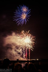 A Firework Frenzy (Ollie Smith Photography) Tags: longexposure november autumn colour night nikon cheshire firework nighttime rockets explosions bonfirenight november5th lightroom runcorn halton firstattempt runcornbridge fireworkdisplay 1685mm d3100 1685afslens