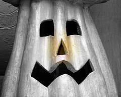 Better late than never | Mas vale tarde | meglio tardi che mai (Raul Jaso) Tags: blackandwhite bw ceramica byn blancoynegro halloween pumpkin blackwhite clay pottery calabaza barro biancoenero argilla fz150 panasonicfzseries panasonicfz150 rauljaso rauljasofotografia rauljasophotography