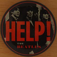 Beatles - HELP! (Leo Reynolds) Tags: pin badge button squaredcircle beatles xleol30x sqset121 xxx2015xxx