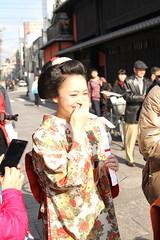 Laugh (jumppoint5) Tags: street girl smile festival japan kyoto maiko geisha laughter gion demure katohajime