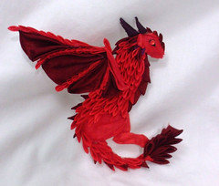 DSCF6853 (EruwaedhielElleth) Tags: flower hair japanese dragon fabric hana folded wyvern accessory tsumami kanzashi zaiku imlothmelui