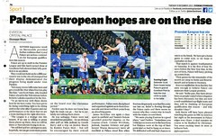 Everton v Crystal Palace - Evening Standard report (2015) (The Wright Archive) Tags: uk muro scott season evening newspaper football december european crystal soccer report palace tuesday match standard premier league londons 08 versus efc giuseppe dann everton qualification 2015 cpfc 201516