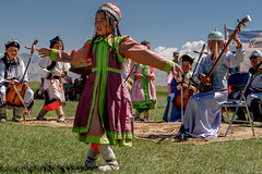 Dancing at a Naadam