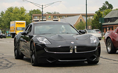 Fisker Karma (SPV Automotive) Tags: black sports car electric sedan exotic karma fisker