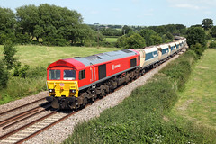 59205 6V18 Great Cheverell 05/07/13. (Dan's Railway Gallery) Tags: dbs aggregate greatcheverell wilts class59 mendiprail