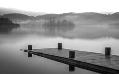 Aquiform (rgcxyz35) Tags: bw mist mountains scotland trossachs lochs lochard
