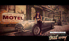 """Feeling Inspired - """"Don't Look Back"""" (Bug.Katey) Tags: second life game photography vintage car cute motel looking forward inspiration welcome"""