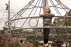 Cousins at Maidstone Park, Upper Hutt 46 (C & R Driver-Burgess) Tags: boys girls young play park playground plaid jeans minecraft tshirt blonde curls blue roundabout spinner child kids flying smile rope