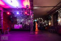 stage (genelabo) Tags: import export sony alpha weitwinkel dia projektion projection slide reflecta light installation visual bar kantine munich dachauerstrase genelabo round purple violett indoor empty stage