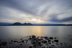 Everlasting scenery (szk_a) Tags: sony slta99v sal24f20z longexposure sunset water cloudy clouds lake laketoya hokkaido hokkaido2016   2016