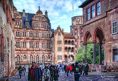Interior Courtyard of Heidelberg Castle in Germany (PhotosToArtByMike) Tags: heidelbergcastle heidelberggermany friedrichwing friedrichsbau interiorcourtyard heidelbergerschloss ruins faade heidelberg germany neckarriver oldtownheidelberg medieval neckarvalley badenwrttemberg europe