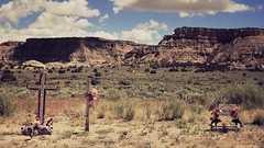 the last gasp (jeneksmith) Tags: roadside newyears death cross summer desert westernus newmexico utah canon