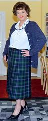 Birgit023085 (Birgit Bach) Tags: pleatedskirt faltenrock blouse bluse cardigan strickjacke