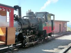 Brienz Rothorn Bahn, Switzerland - Locomotive No. 6 built by SLM in 1936 stands at the Summit on the 13th September 2016 (trained_4_life) Tags: brb brienzrothornbahn switzerland rackrailway steamengine