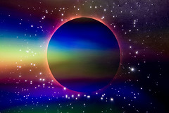 Deep.  298-366. (FadeToBlackLP) Tags: deep deepspace space exploration lightpainting lpuk lp lpwalliance planet stars sky kitchen gamblerawpeg rainbow colourful beautiful creative