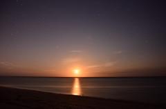 (Leela Channer) Tags: moonrise night skyscape nightscape nature landscape seascape waterscape golden orange yellow stars sea lagoon ocean beach sand kenya africa mombasa fullmoon