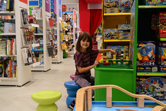 LEGO Fun at Chapters (Vegan Butterfly) Tags: vegan child kid girl cute adorable homeschool homeschooling chapters lego bricks duplo fun play playing