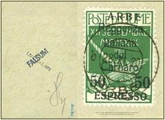 MiNr. 27 Arbe 5206 MFake Fiumanische Besetzung der Carnaro-Inseln 20. Nov. 1920.  Briefmarken Falsch Philatelic Fake stamp (Morton1905) Tags: minr 27 arbe 5206 mfake fiumanische besetzung der carnaroinseln 20 nov 1920 briefmarken falsch philatelic fake stamp