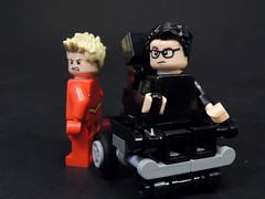 Barry and Dr.Wells (MrKjito) Tags: lego minifig flash cw super hero comic dc comics drwells reverse meta huam speedster central city