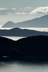 Marlborough Sounds Vista (robertdownie) Tags: sea mountains water reflection sun light sunny nz sounds sky island new south marlborough zealand