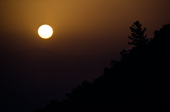 Sunrise over Olympos (Melissa Maples) Tags: olympos turkey trkiye asia  nikon d5100   nikkor afs 18200mm f3556g 18200mmf3556g vr dawn morning autumn silhouette black sunrise sun brown trkiye
