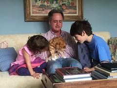 a very happy cat (irene_joy) Tags: noah maya niece nephew uncle todd cat family