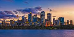 Sydney CBD Skyline (Jos Buurmans) Tags: australia capitalcity centralbusinessdistrict city citylandscape cityscape downtown evening longexposure newsouthwales skyline sunset sydney urbanscape