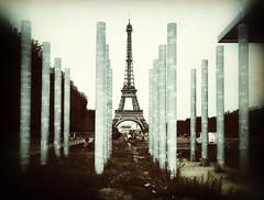 Peace Pillars in Paris (gezznz) Tags: park champsdemars france paris eiffeltower peace