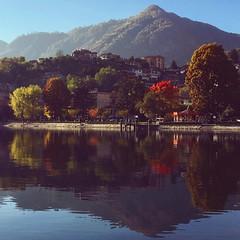 Riflessi d'autunno (Maria Velonà) Tags: lagodorta lago reflex lungolago omegna lake