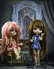 Girl Talk (twilitize) Tags: adorable adventure awesome art beautiful beauty baby babydoll cute cool cutie camera canon canonphotography dolls doll dolly dollphotography darling daring dal girl girls good girly groove pullip popular pop pullips pullipphotography playtime