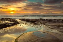Pothole Sunset (PhotoJacko - Jackie Novak) Tags: lajolla potholes sandiego tidepools california sunset seascape ocean landscape tidalpool singhraydarylbensonreversegndfilter canon 6d gndfilter travel outdoors scenery waves sky clouds