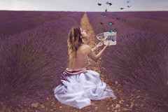 The butterfly cage (pasotraspaso. Jesus Solana Fine Art Photography) Tags: butterfly cage freedom autdoor beauty lavender fineart lady fantasy dream
