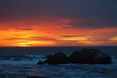 Sunset at Land's End (24thcentury) Tags: rock water landsend sanfrancisco sunset