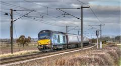 68016. 'The Grassington Dickension' (2). (Alan Burkwood) Tags: ecml retford eatonlane ukrailtoursnorthernbelle drs 68016 fearless thegrassingtondickension diesel locomotive