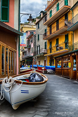 Hauled out in Manarola.. (Howard Brown Photographic) Tags: boat fishing fish manarola cinqueterre cinque terre stormy weather storm storms hdr italia italian italy urban street cityscape architecture cloudsstormssunsetssunrises