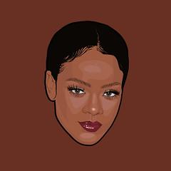 (keezyarts) Tags: rihanna illustration illustrator vektor art graphic design robyn fenty people portrait