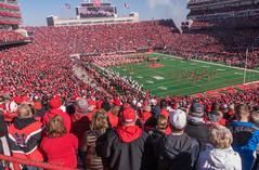 Huskers Memorial Stadium (Codydownhill) Tags: football game huskers big red sports portrait trophy brother dad