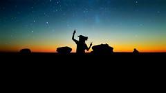 Majestic Sunset. ( Mo'men Saleh) Tags: stars night sunset s7edge mobilephotography camping whitedesert orangeandblue horsemask myegypt desert