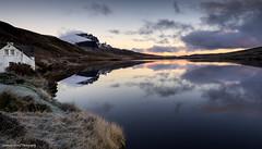 Storr Lochs Lodge (lawrencecornell25) Tags: waterscape landscape skye isleofskye scotland scenery dawn reflections cottage nikond5