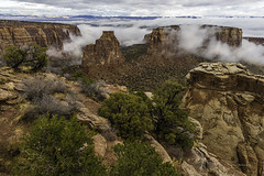 Clearing Fog (Happy Photographer) Tags: colorado national monument fog winter red rocks