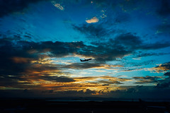 UT (Tridentz | ) Tags: takeoff airport airplane plane sky sunset colorful color  sony a7 alpha alpha7 dusk travel             25mm f28 wide wideangle