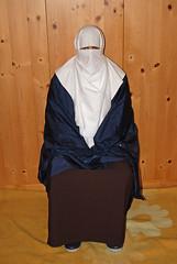Slave Girl (Buses,Trains and Fetish) Tags: girl burka hijab chador niqab poncho rain slave sweat