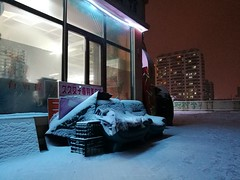 Quiet Night (katushang) Tags: haerbin harbin winter street snow 2016 huaweip9plus huawei android city china nightscene night urban afterdark asia earthasia fareast siberia 哈尔滨 黑龙江 中国 smartphone cameraphone phone mobilephone contrast blue
