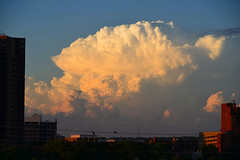 Storm over Old St. Anthony (schwerdf) Tags: cloudscapes goldenhour millingdistrict minneapolis minnesota sunsets thunderclouds