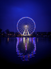 le coeur de la grande roue (flo40140) Tags: eau uga urbain urban urbex nuit france grandangle lightroom water canon canon60d paris reflet granderoue obelisque coeur